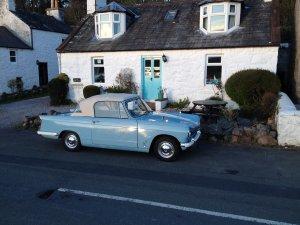 Triumph Herald at Kippford | Kippford Classic Car HIre