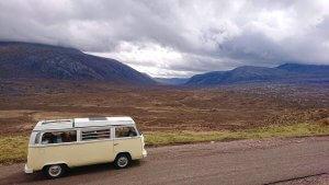Camping in a VW | VW camper in the Highlands | Kippford Classic Car Hire