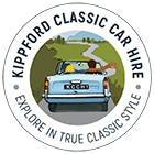 Kippford Classic Car Hire Logo - Hiring a VW Camper