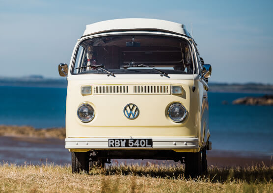 Kippford Classic Car Hire vintage vehicles - VW Camper