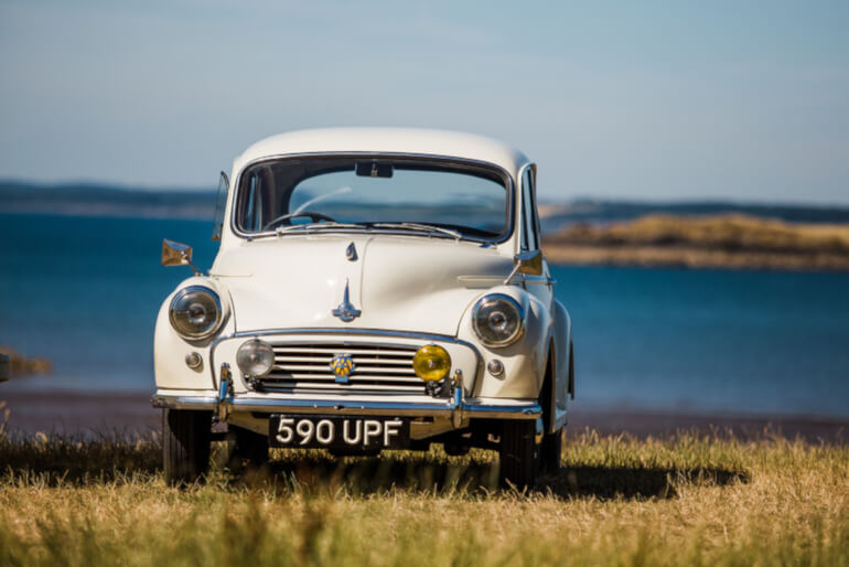 Morris Minor Hire - Kippford Classic Car Hire village image