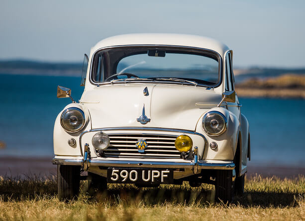 Dumfries & Galloway - Kippford Classic Car Hire - morris minor hire