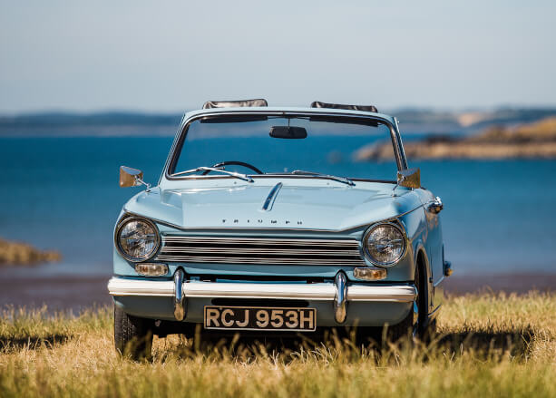 Dumfries & Galloway - Kippford Classic Car Hire - Triumph Herald hire