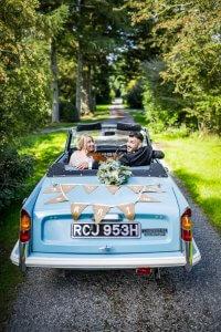 Vintage wedding car transport | Triumph Herald Convertible | Kippford Classic Car Hire